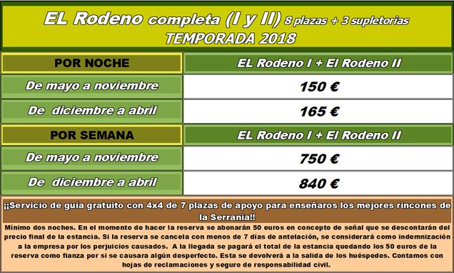 tarifas Rodeno Completa - 2018